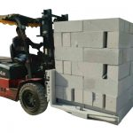Hydraulic Forklift Concrete Bricks / Block Lift Clamp